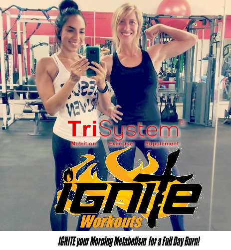 Wake up your metabolism!  Try our 5 am scientifically sound TriSystem Ignite Workouts.  TRY IT FOR FREE!